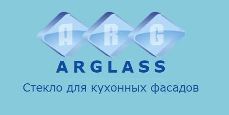 логотип компании ARGlass – Изготовление витражей для кухонных фасадов